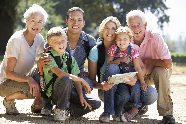 Ohio Three Generation Family On Country Walk Solana Family Dental